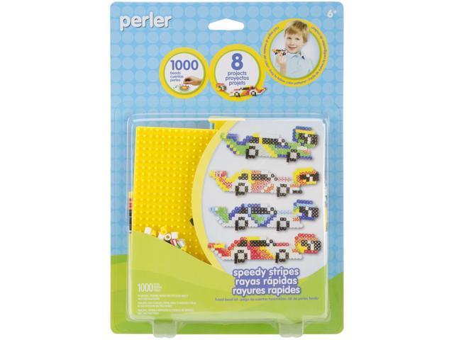 Perler Fused Bead Kit-Speedy Stripes