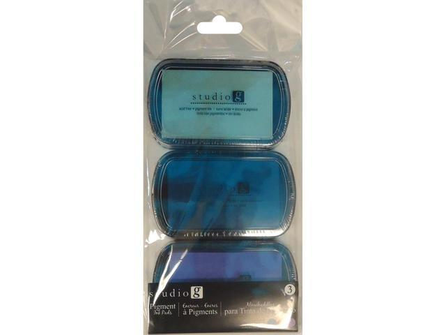 Pigment Ink Pads 3pk-Cool