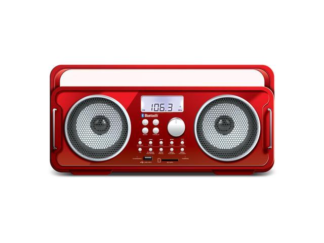BT-4000 Bluetooth Boombox recharge RED