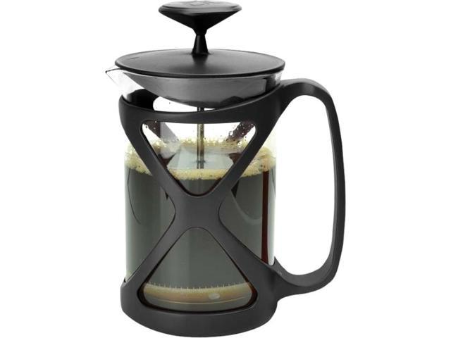 Primula Cafe Color Tempo Press 6 Cup - Black - 1.50 quart Coffee Press - Glass Body, Plastic, Stainless Steel Filter - Coffee Press - Yes - Black