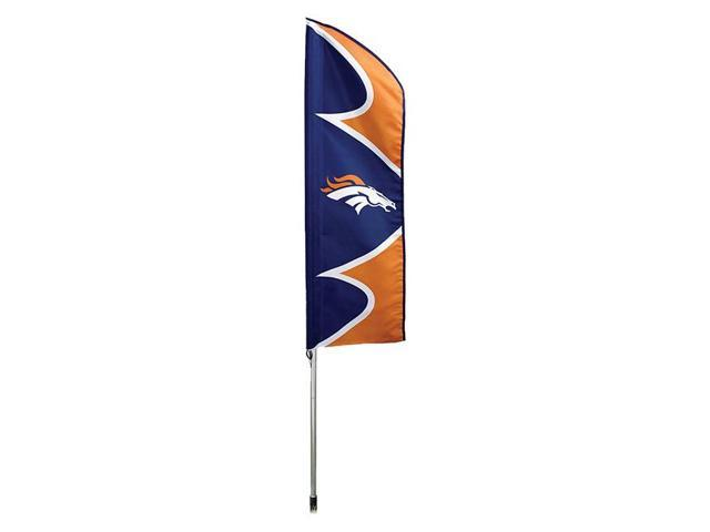 """Party Animal Broncos Swooper Flag Kit - United States - 42"""" x 13"""" - Durable, Weather Resistant, UV Resistant, Lightweight, ..."""