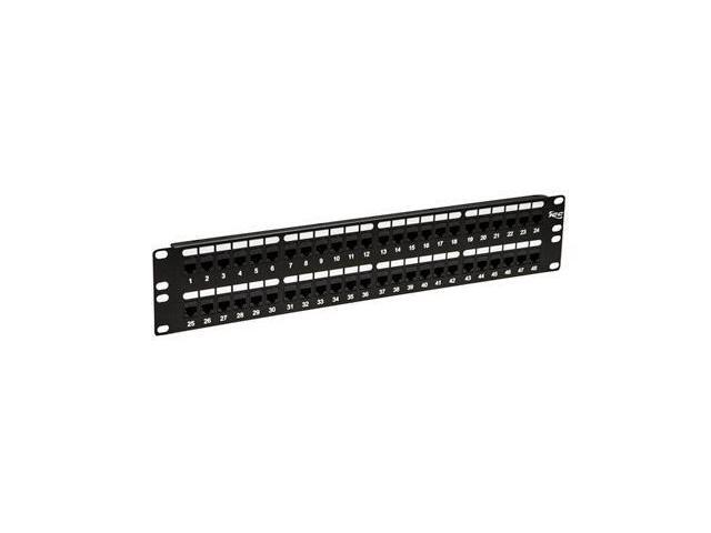 PATCH PANEL-CAT 6- FEED-THRU 48-P-2RMS