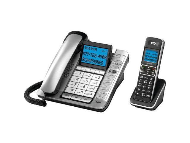 RCA 7114-2BSGA Corded/Cordless Combo with Caller ID & Digital Answering System
