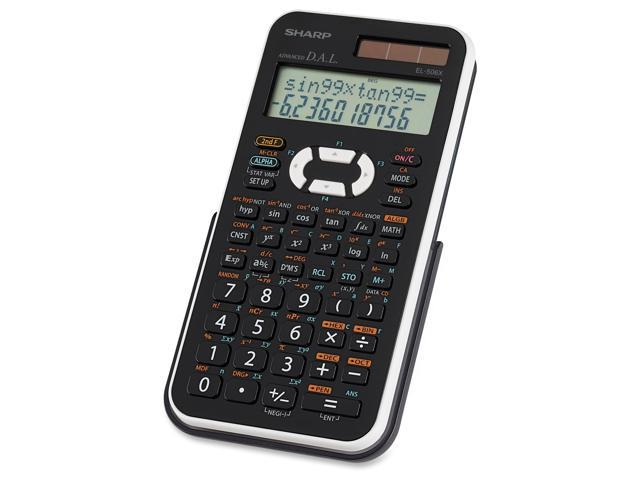 Sharp EL506X Scientific Calculator - Dual Power, Extra Large Display, Automatic Power Down, Protective Hard Shell Cover - Battery/Solar Powered - 3.3