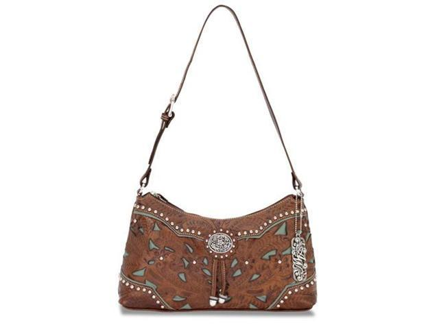 American West Zip-Top Shoulder Bag