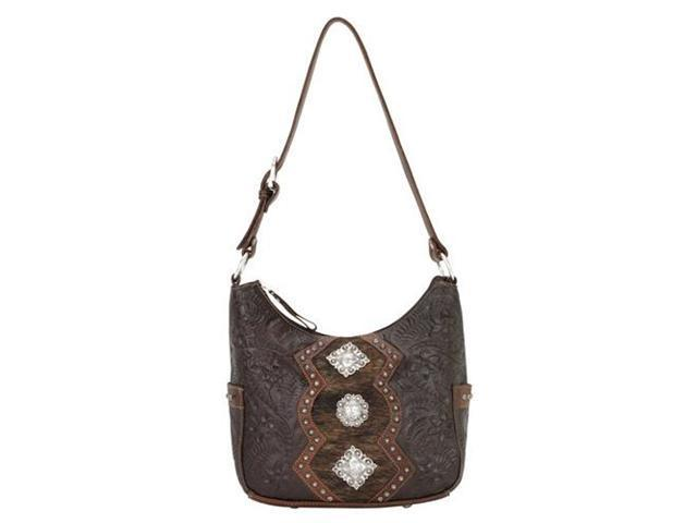 American West Zip-top hobo with two side pockets