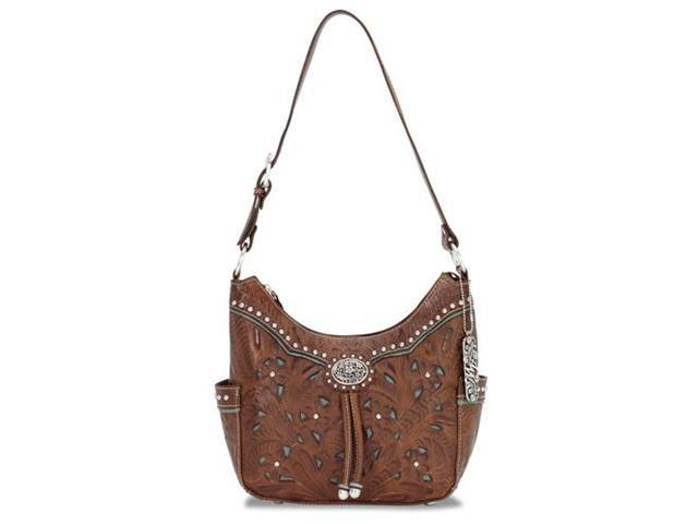 American West Zip-Top Everyday Hobo With 2 Side Pockets