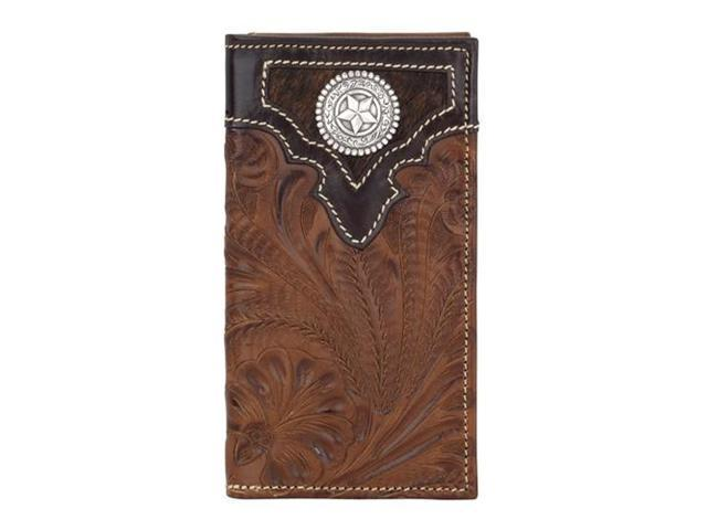 American West Men's rodeo wallet with flap for checkbook