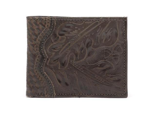 American West Leather Men'S Bifold Wallet