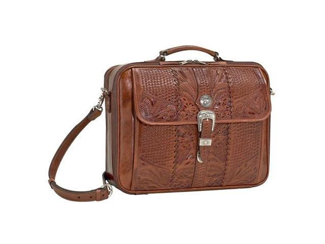 American West Leather Laptop Briefcase