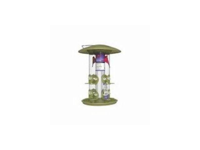 WIindstream,Perky Pet Triple Tube Bird Feeder Green
