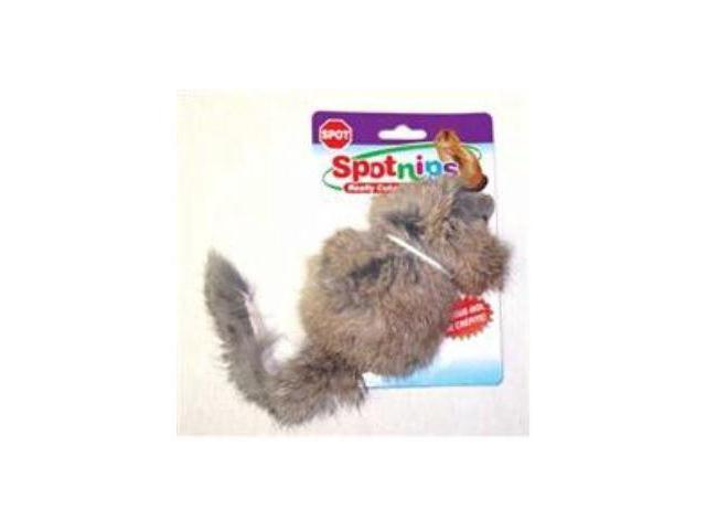 Ethical Pet Shaggy Plush Giant Mouse, 4.5 Inch - 2922
