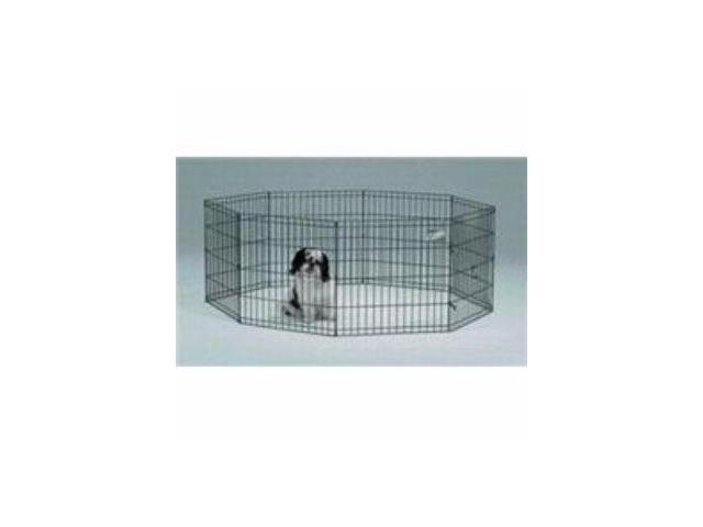 Midwest Pet Dog Exercise Playpen 8 Panel Black 24X24