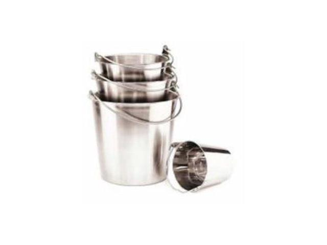 Ethical Pet Stainless Steel Pail With Handle, Stainless Steel, 9 Quart - 6443