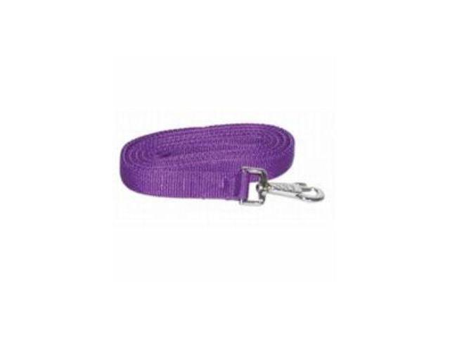 Gatsby Leather Nylon Lead With Snap Purple