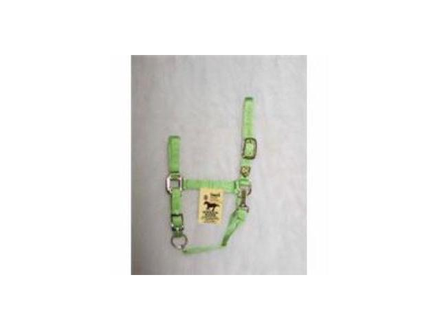 Nylon Halter Adjustable With Snap Lime Small