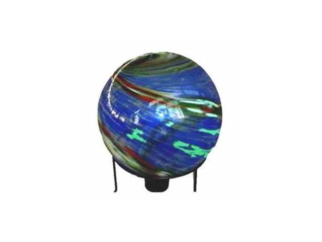 Glass Globe 10 Inch Blue Red Green