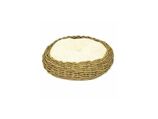 Seagrass And Burlap Round Bed Natural 16 X 16 X 5.5