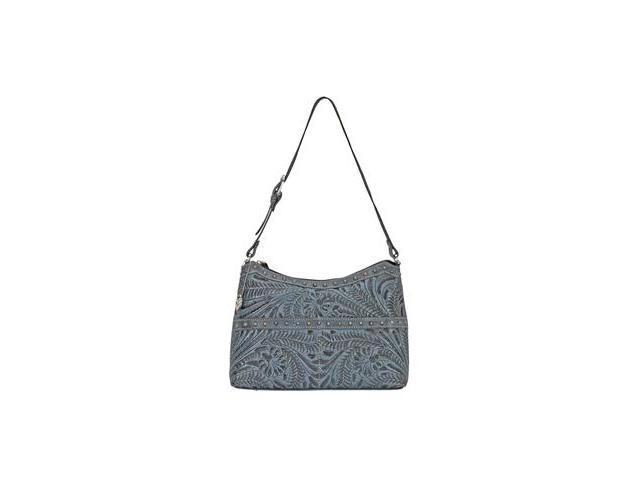 American West Zip top shoulder bag with 2 front pouches