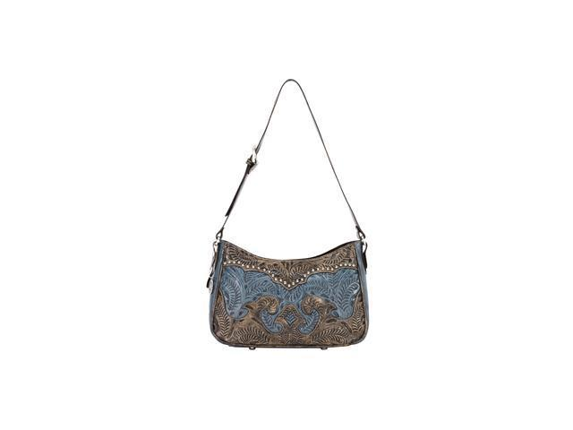 American West Zip-top shoulder bag with adjustable shoulder strap