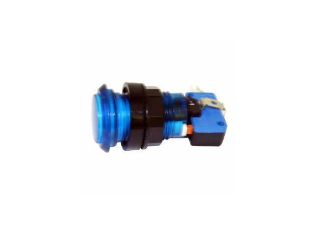 Arcade Game Illuminated Pushbutton (Blue)
