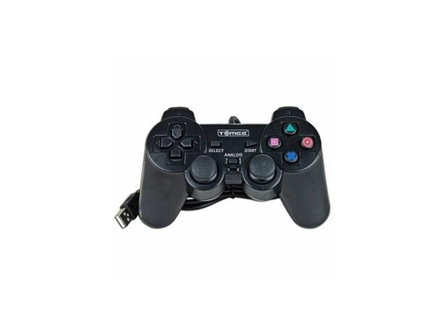 Tomee USB 16-Button Gamepad for Sony PlayStation 3 & PC (Black)
