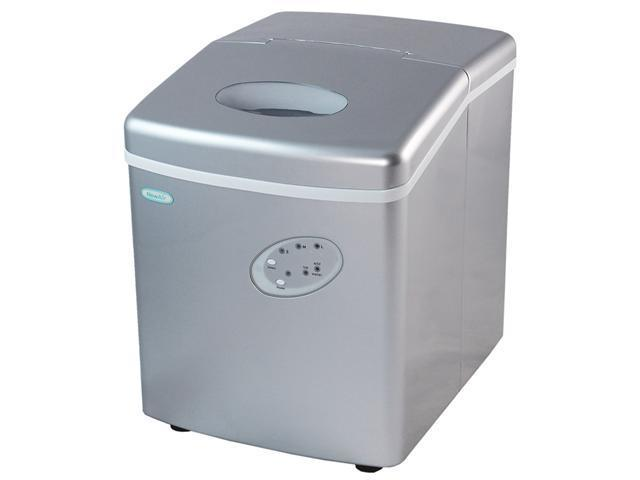Newair AI-100S Silver Portable Ice Maker with 28-Pound Daily Capacity