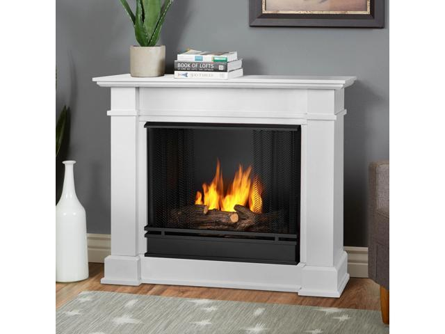 Real Flame Devin Indoor Gel Fireplace in White