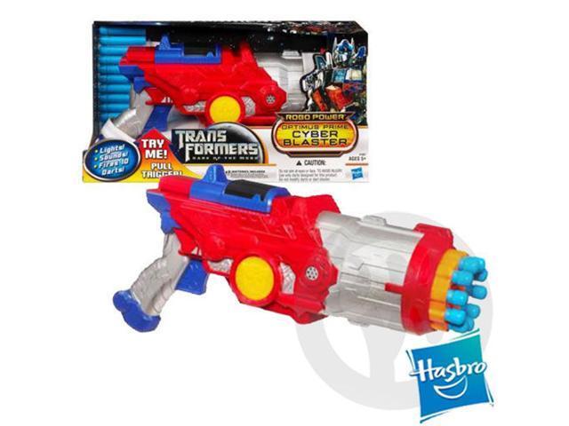 TRANSFORMERS DARK OF THE MOON ROBO POWER OPTIMUS PRIME CYBER BLASTER Toy