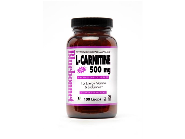L-Carnitine 500 mg - Bluebonnet - 100 - Liquid Capsule