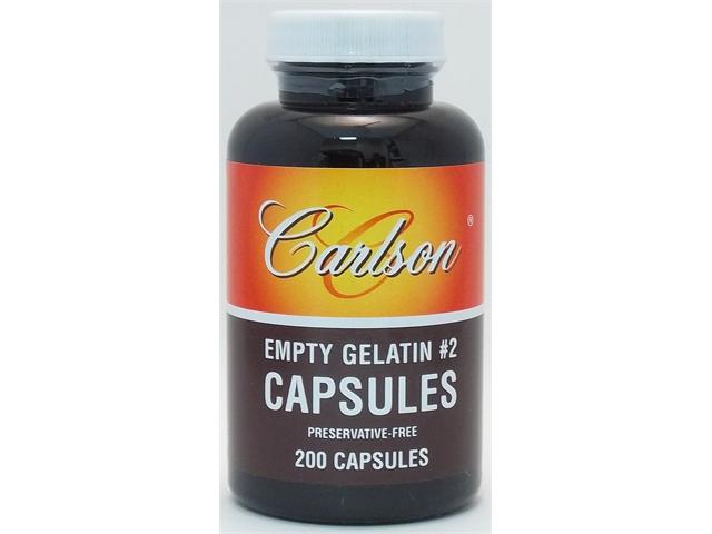 Empty Gelatin Capsule Small #2 - Carlson Laboratories - 200 - Capsule