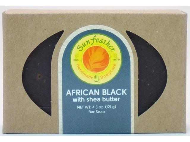 African Black Soap - Sunfeather - 4.3 oz - Bar Soap