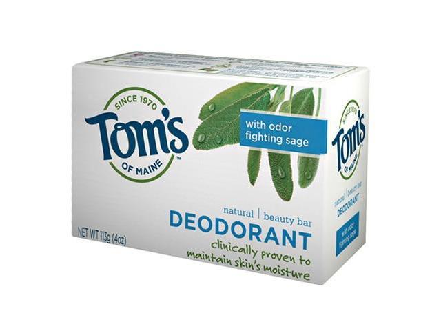 Tom's of Maine Natural Beauty Bar - Deodorant 113g/4oz With Odor Fighting Sage)