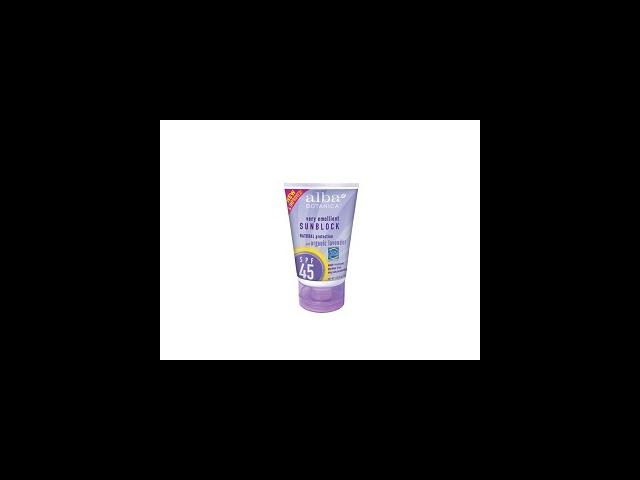 Lavender Sunblock SPF 45 - Alba Botanica - 4 oz - Lotion