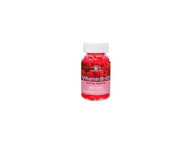 Vitamin B-12 Gummy Vitamins (Raspberry Flavor) - 100 Gummies by Nutrition Now