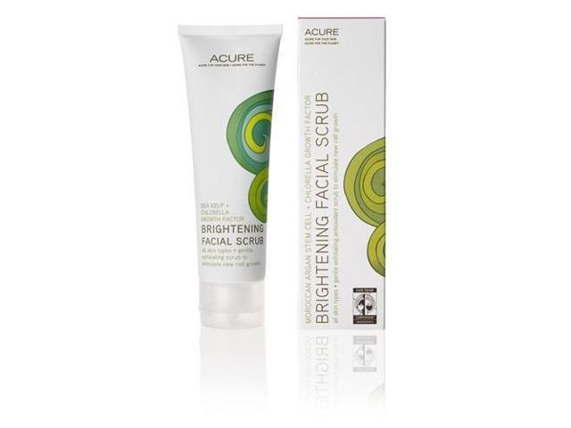 Brightening Facial Scrub - Acure Organics - 4 oz - Liquid