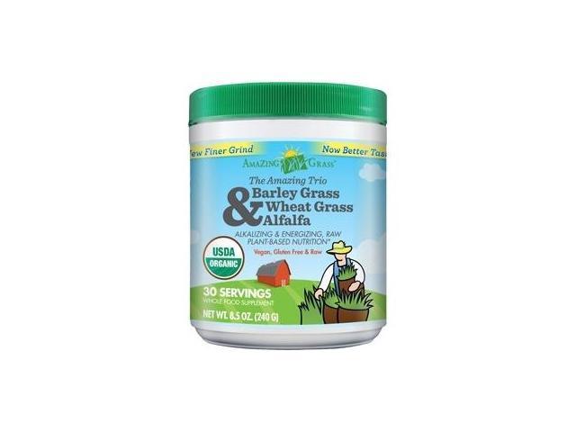 Amazing Trio Powder (Barley Grass, Wheat Grass & Alfalfa) - 30 Servings (8.5 oz