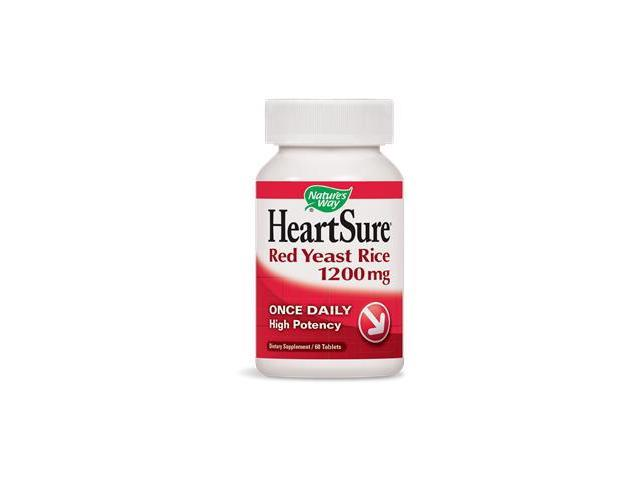 HeartSure Red Yeast Rice 1200 mg - Nature's Way - 60 - Tablet