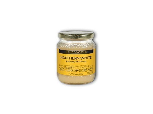 Raw Honey White Gold (Natural) - Honey Gardens - 1 lb - Liquid