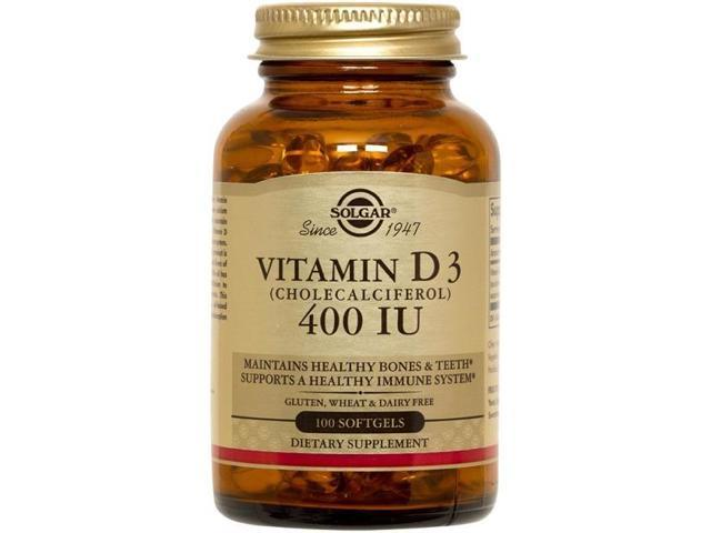 Vitamin D 400 IU - Solgar - 100 - Softgel