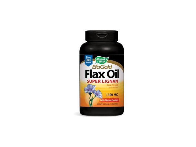 Flax Oil 1300 mg Super Lignan - Nature's Way - 100 - Softgel