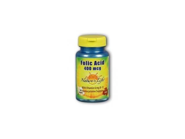 Folic Acid 400mcg - Nature's Life - 200 - Tablet