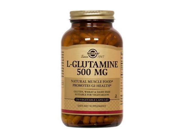 L-Glutamine 500mg - Solgar - 250 - VegCap