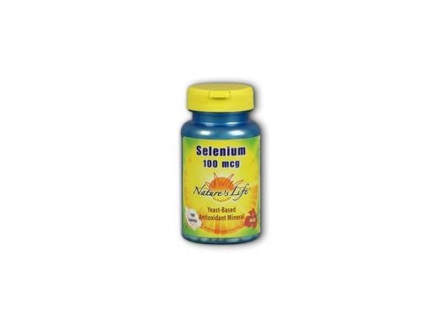 Selenium 100mcg Yeast Based - Vegetarian - Nature's Life - 100 - Tablet