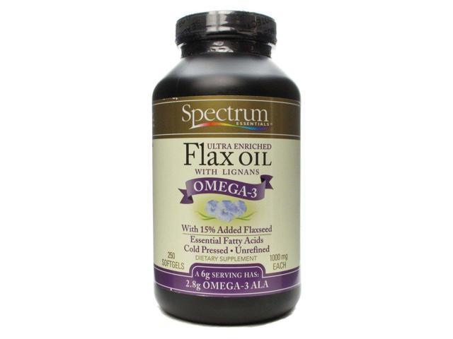 Organic Flax Oil-Ultra High Lignan - Spectrum Essentials - 250 - Capsule