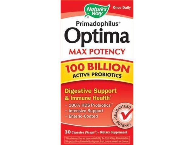 Primadophilus Optima Max Potency- 100 Billion - Nature's Way - 30 - VegCap