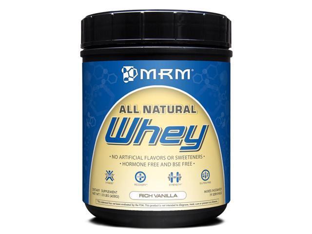 All Natural Whey 1lb Vanilla - MRM (Metabolic Response Modifiers) - 1 lbs - Powder