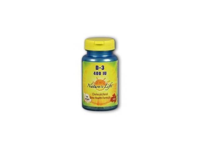 Vitamin D3 400 IU - Nature's Life - 100 - Softgel