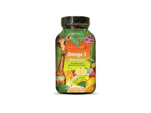 Irwin Kids Omega-3 Citrus  (formerly Bright Brain) - Irwin Naturals - 30 - Chewable