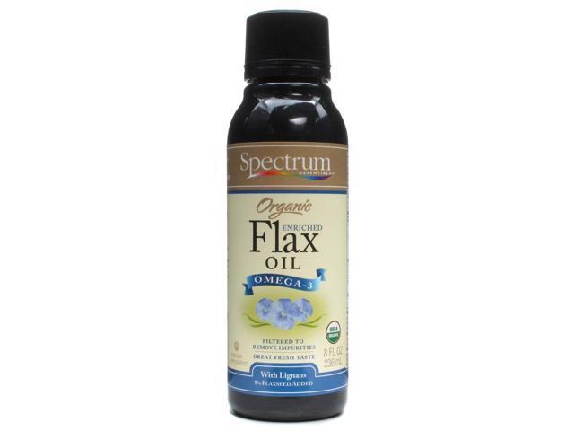 Flax Oil Omega-3 High Lignan, Cold Pressed - Spectrum Essentials - 8 oz - Liquid